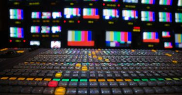 TV news control room