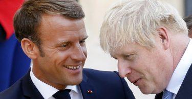 Emmanuel Macron Boris johnson