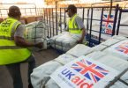 UK researchs impact on international development Photo cred DFID UK aid shelter kits are loaded for shipment in Dubai e1517912074980