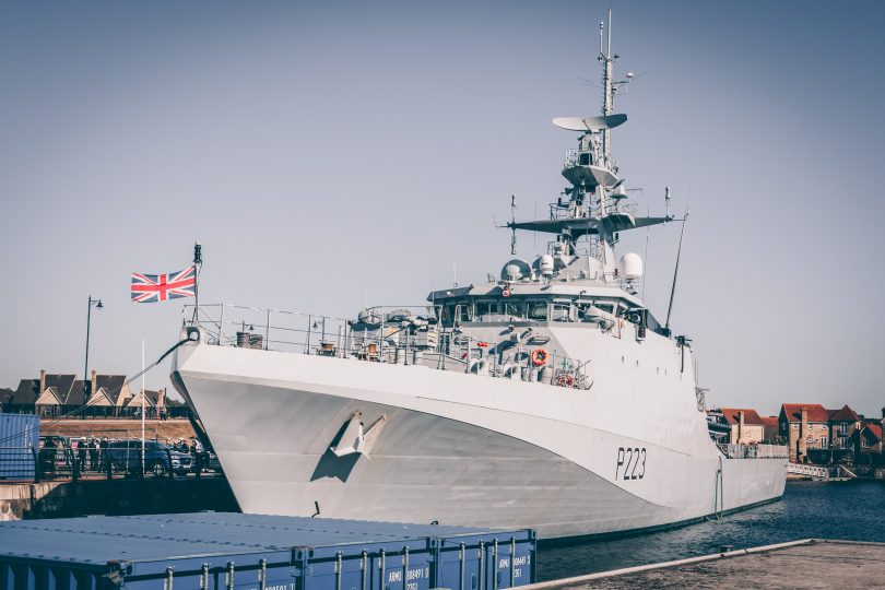 white war ship Royal Navy